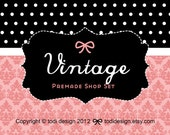 Vintage- Premade Etsy Shop Banner set
