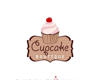 Premade Logo design-Cupcake Boutique