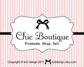Premade shop set & business card design