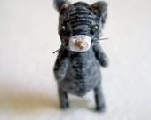 bad ass alley cat - cat brooch pin