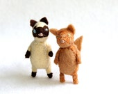 bad ass alley cat  -  siamese -  felt cat brooch