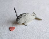 baby narwhal - soft sculpture by royalmint