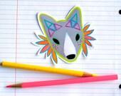 for moe - princess warrior fox - original art sticker