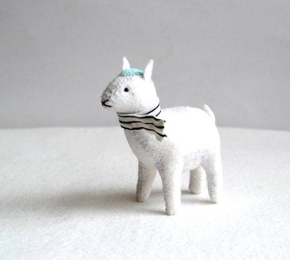 frosty mint goat - white goat soft sculpture by royalmint