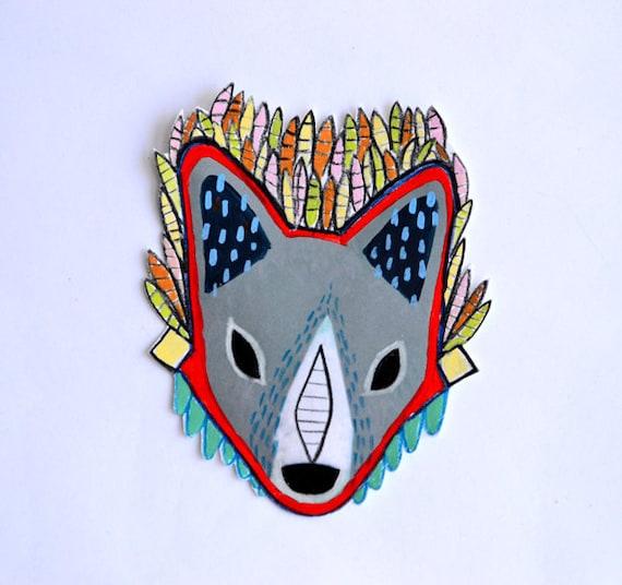warrior fox - large art sticker by royalmint