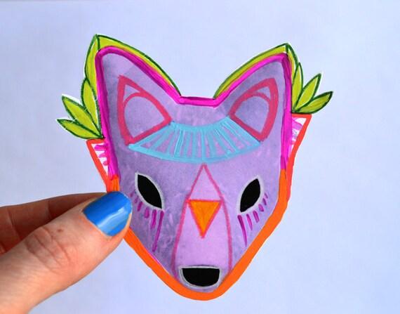 purple amethyst fox - art sticker