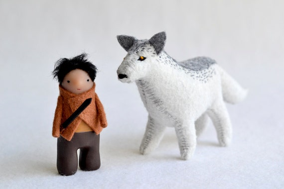 For Lindsey - Arya and Direwolf Nymeria - game of thrones character set