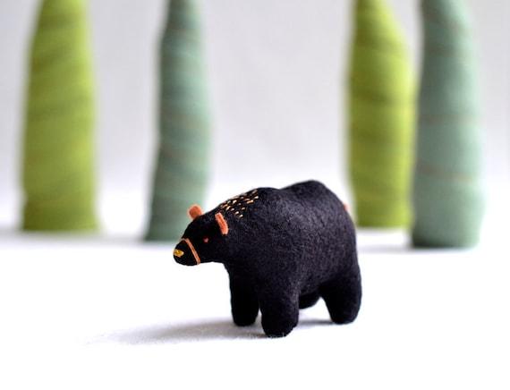 black bear  - bear soft sculpture