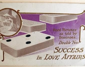 Rare Fortune Teller Postcard, signed Fred C Lounsbury, Success in Love Affair, 1907