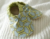 Leaffy Greens Luxe (Leather Sole) Booties Size 12-18 Months Ready to Ship