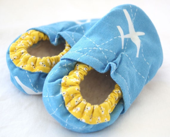 Flight School Bison Booties Size 18 to 24 Months Toddler Slippers Airplane Ready to Ship