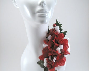 Corsage Red White