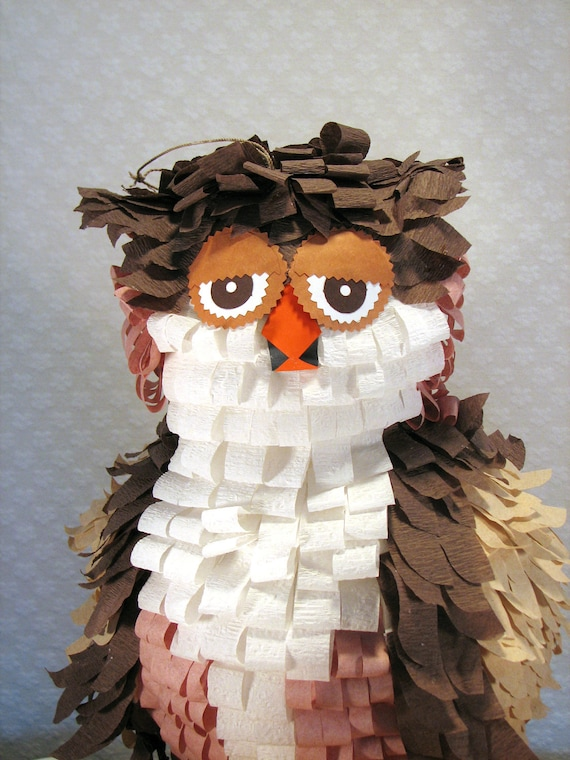 Owl Pinata Pink and Brown Reduced