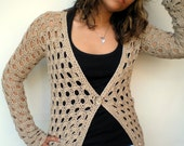 Long  Lace Cardigan Trendy Natural Hand Crocheted Woman Sweater Tunic  Cardigan NEW COLLECTION