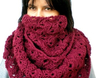 Bordeaux Fashion Circle Scarf Super Soft Mixed wool Circle Neckwarmer Woman ' Scarf NEW COLLECTION