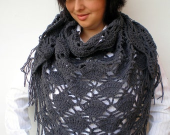 Sharon Triangular Scarf Super Soft Acrulic Shawl Crocheted Woman Shawl NEW COLLECTION