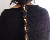 Leather hair-tie ponytail holder