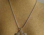 """16"""" Sterling Silver Snake Chain with Sterling Silver Pendant."""