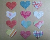 100 Colored Hearts, 100 paper hearts in assorted colors