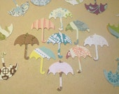 April Showers Bring May Flowers, 100 paper Umbrellas in Assorted Colors