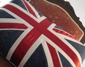 denim union jack cushion cover