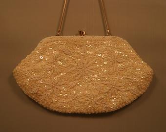 vintage,  beaded purse