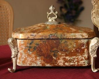 vintage decorative floral box