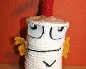 Master Shake Crochet Plush Food Drink Toy Stuffy ATHF - Character Doll
