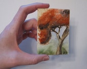 Trading Card No. 1 - 2.5 x 3.5 inch ORIGINAL watercolor painting