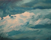 Lake Sky: ORIGINAL acrylic painting on canvas