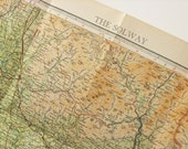 Vintage Map of the Solway, Scotland and England, 1959