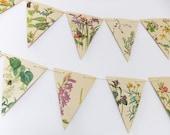 Spring and Summer Paper Bunting, Wedding Garland, Flower banner, eco-friendly bunting, wedding decor, Wedding Pennants