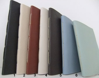 Handmade Leather Journal - brown leather notebook - reclaimed leather