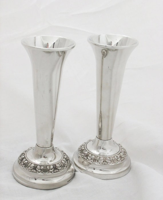 Vintage Bud Vases Ianthe Silver Plated Bud By PeonyandThistle