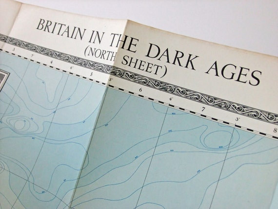 Map of Britain in the Dark Ages, Ordnance Survey - North Sheet (1938)