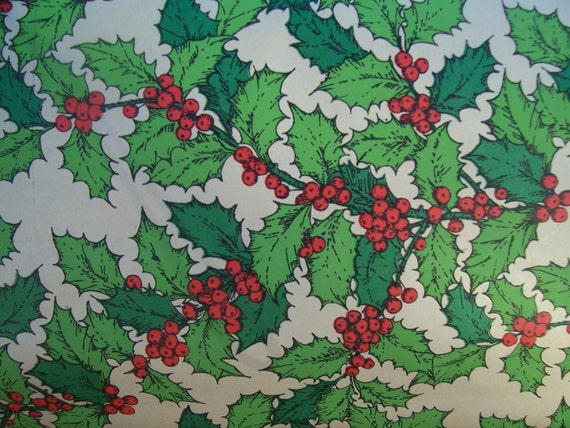 Vintage 1930s 1940s large scale holly berries Christmas