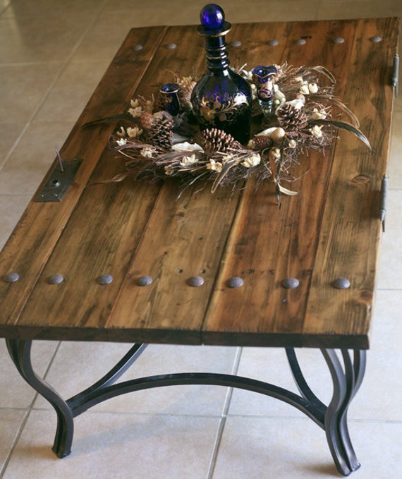 Reserved for monica rustic door coffee table for Rustic door coffee table