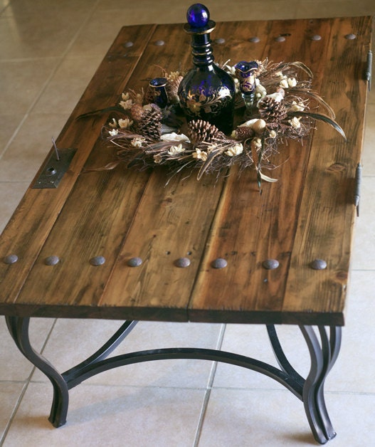 Reserved For Monica. Rustic Door Coffee Table