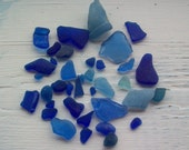 SCOTTISH SEAGLASS in Shades of Cobalt Blue from the Isle of ARRAN  .......Craft Quality (54)