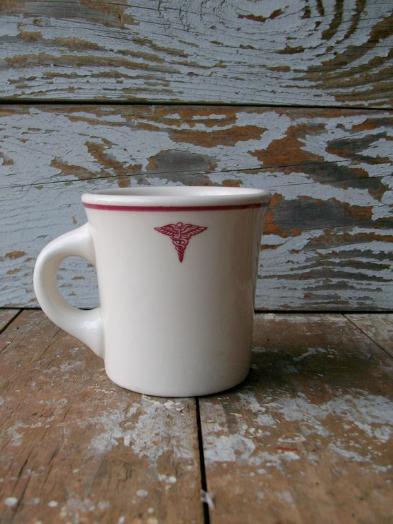 Vintage Mug with Caduceus