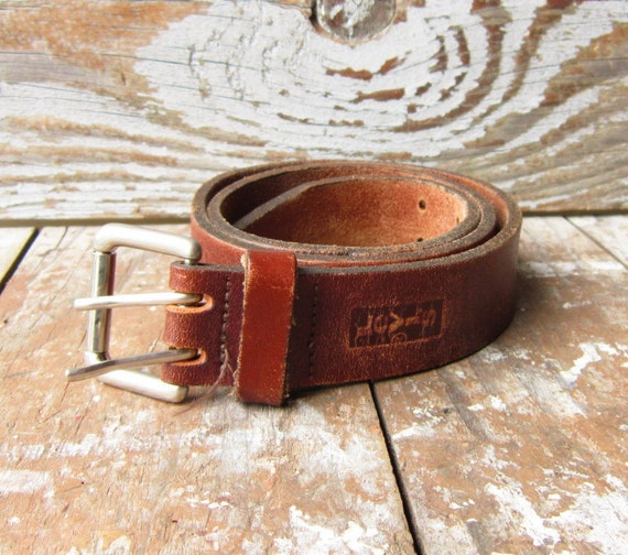 Retro Brown Leather Belt FREE SHIPPING