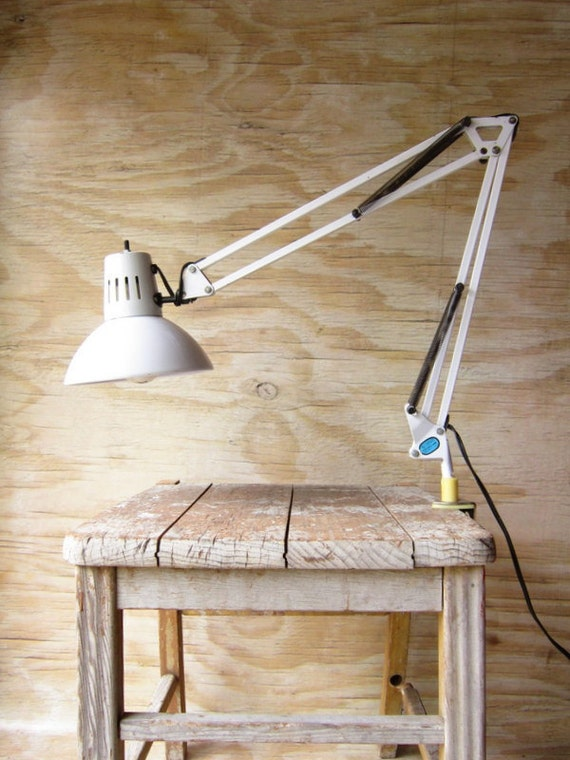 Industrial  Swing Arm Lamp with Clamp