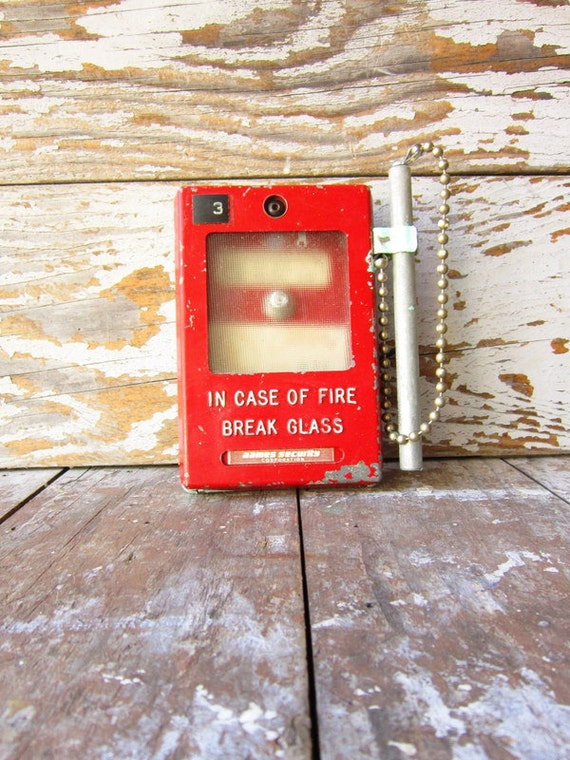 Old School Red Fire Alarm FREE SHIPPING