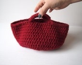 Red Crochet Basket