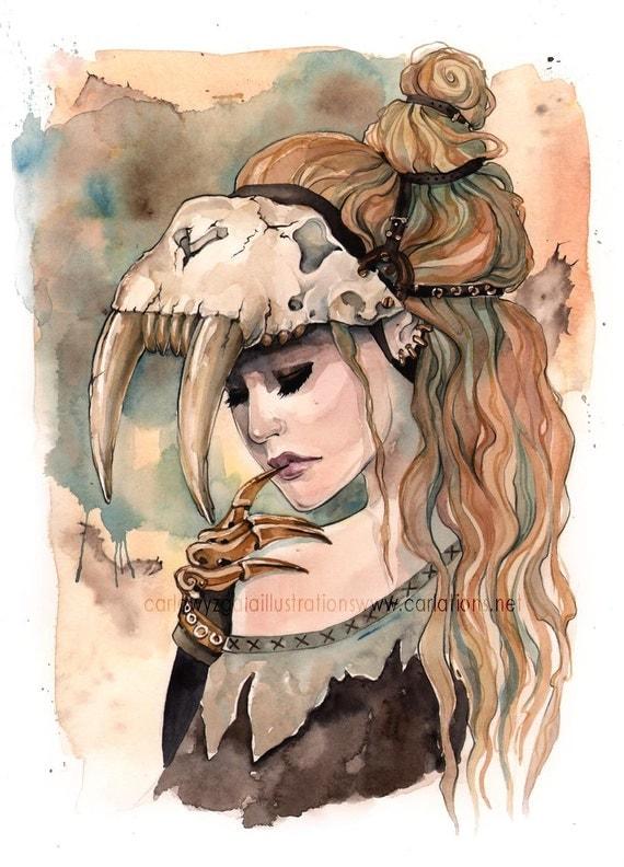 sugar skull girl painting
