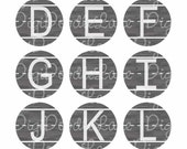 Teacher Chalkboard Initial Alphabet Bottlecap Images Bottle Cap Images for Bottlecaps, Hairbows, Jewelry, Magnets, and More INSTANT DOWNLOAD