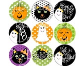 Candy Corn Halloween Bottlecap Images Halloween Bottle Cap Images for Hairbows Jewelry Magnets-Halloween Bottle Cap Images INSTANT DOWNLOAD