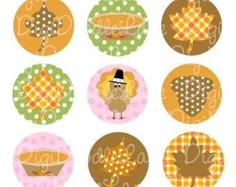 Thanksgiving Bottlecap Images 1 Inch Circles Turkey Bottlecap Images Fall Bottlecaps Hairbows Jewelry Magnets and More INSTANT DOWNLOAD