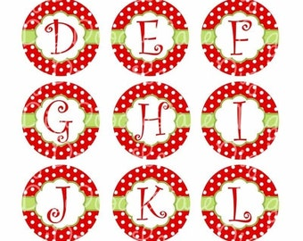 Christmas Initials Bottlecap Images Christmas Bottle Cap Images Christmas Initials 1 Inch Circles Christmas Monogram Image INSTANT DOWNLOAD