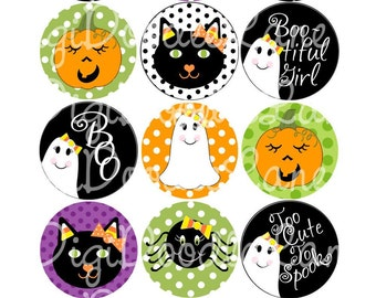 Halloween Bottlecap Images, Candy Corn Cuties Halloween Bottle Cap Images for Hairbows Jewelry Magnets, INSTANT DOWNLOAD